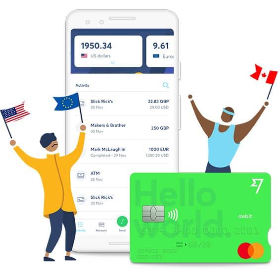 TransferWise pagamento carta